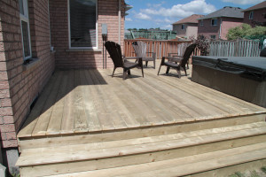 The Anderson's deck Barrie