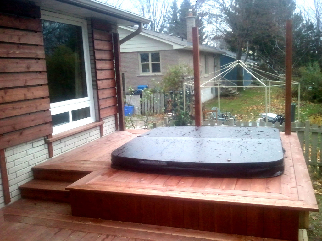 Deck for hot tub Cookstown