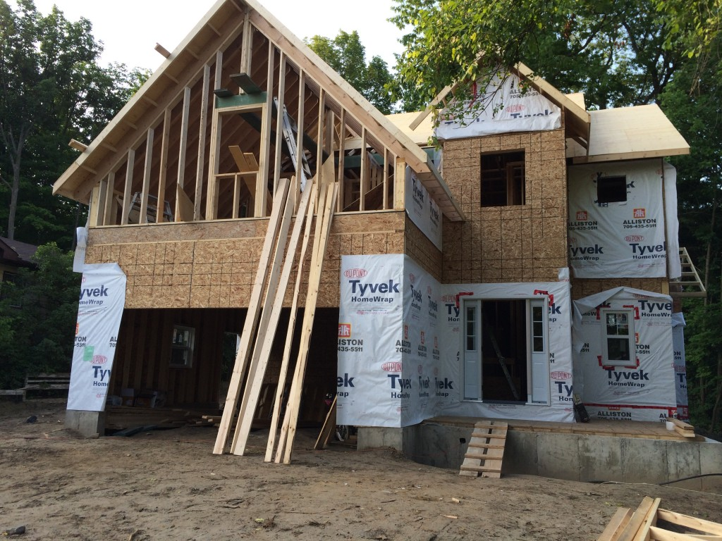New home framing in Keswick