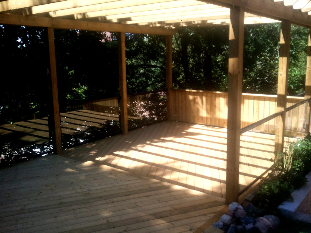 new deck with pergola