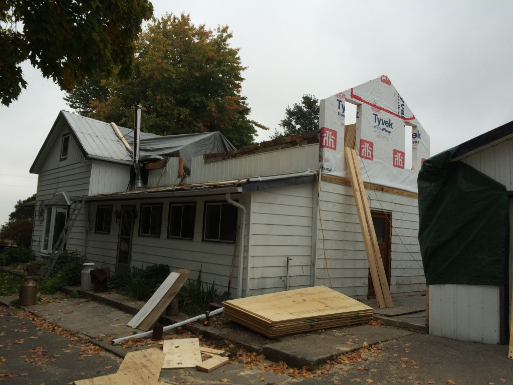 second floor addition before