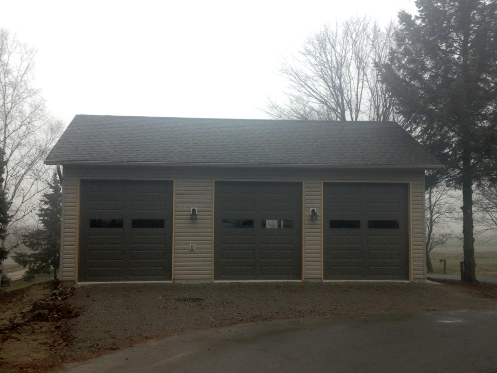 New garage in cookstown simcoe carpentry 705 716 for 3 bay garage cost